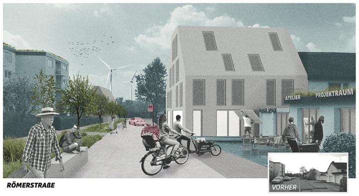 Impression Römerstrasse vorher-nachher